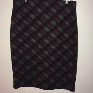 Roz & Ali Plaid skirt